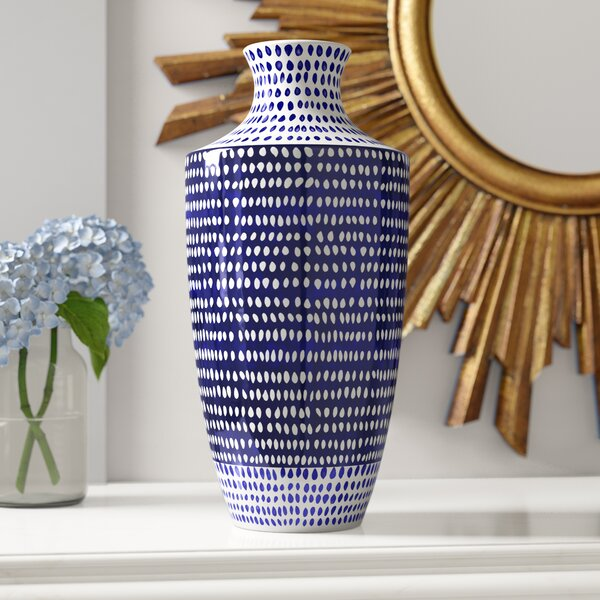 Eclectic Ceramic Table Vase by World Menagerie