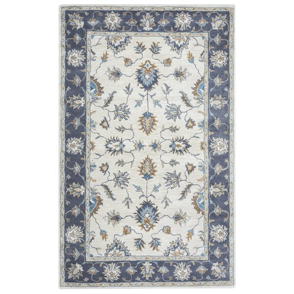 Gillison Hand-Tufted Blue/Beige Area Rug by Alcott Hill