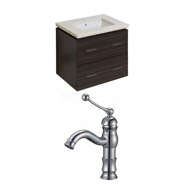 Alican 24 Wall-Mounted Single Bathroom Vanity Set