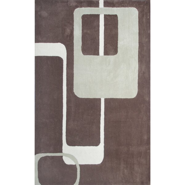 Louis Hand Tufted Brown Area Rug by Threadbind