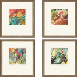 Palette Giclee by Sikes 4 Piece Framed Painting Print Set by Paragon
