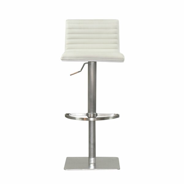 Grosvenor Adjustable Height Swivel Bar Stool by Orren Ellis Orren Ellis