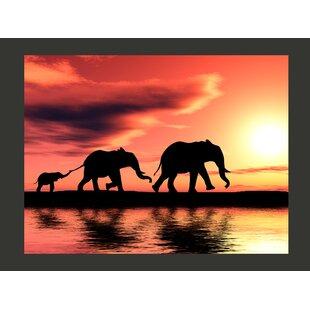 Elephants Families 154m X 200cm Wallpaper