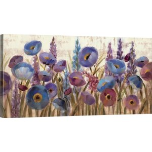 Lupines and Poppies by Silvia Vassileva Gallery Painting Print on Wrapped Canvas by Great Big Canvas