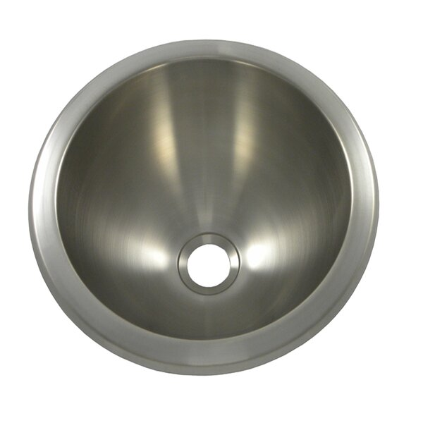 10 L x 10 W Round Bar Sink by Opella