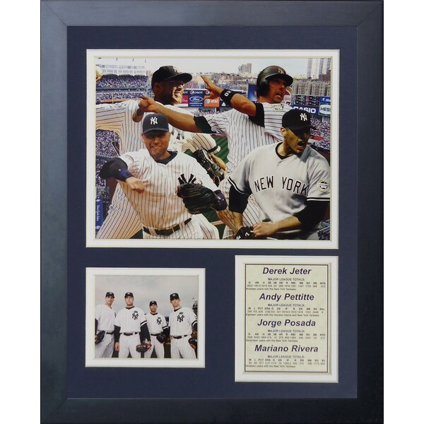 New York Yankees 2009 World Series Core Four Framed Memorabilia by Legends Never Die