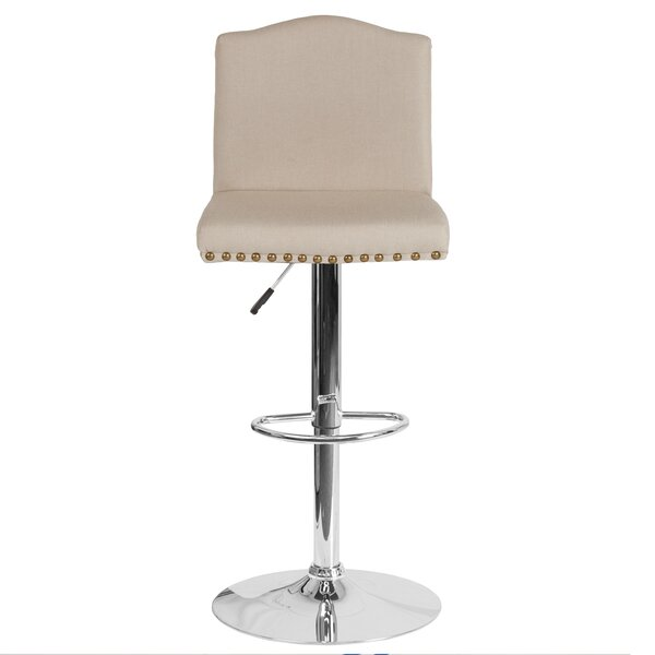 Itzayana Adjustable Height Swivel Bar Stool by Winston Porter