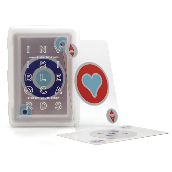 Fun & Game Invisible Playing Card by Kikkerland