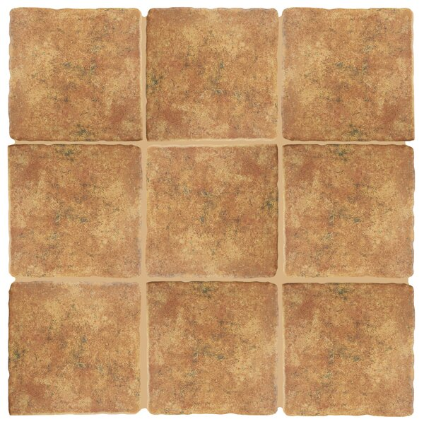 Diego 7.75 x 7.75 Ceramic Field Tile in Marron by EliteTile