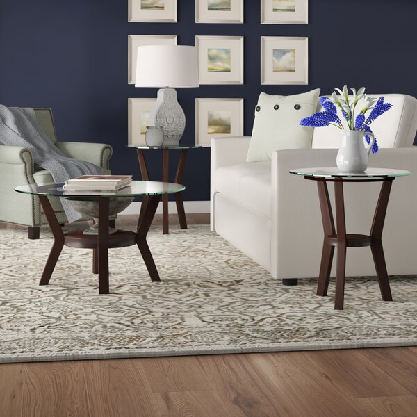 Review Canaday 3 Piece Coffee Table Set