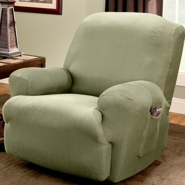 Stretch Stripe T-Cushion Recliner Slipcover by Sure Fit