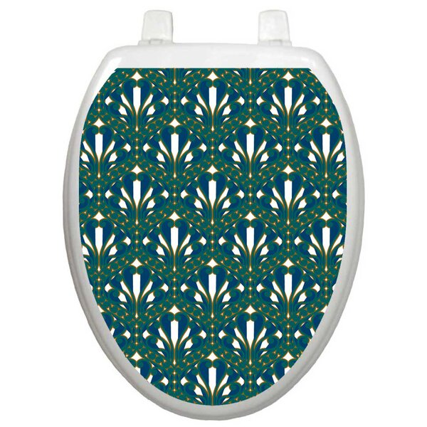 Classic Peacock Feathers Toilet Seat Decal by Toilet Tattoos