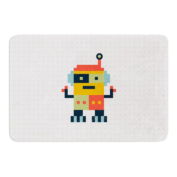 Happy Robot by Daisy Beatrice Bath Mat by East Urban Home