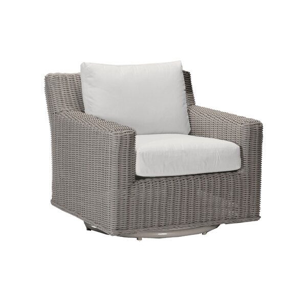 Speaker Swivel Patio Chair with Cushions by Summer Classics
