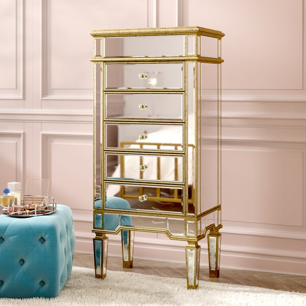 Ake Jewelry Armoire with Mirror by Willa Arlo Interiors
