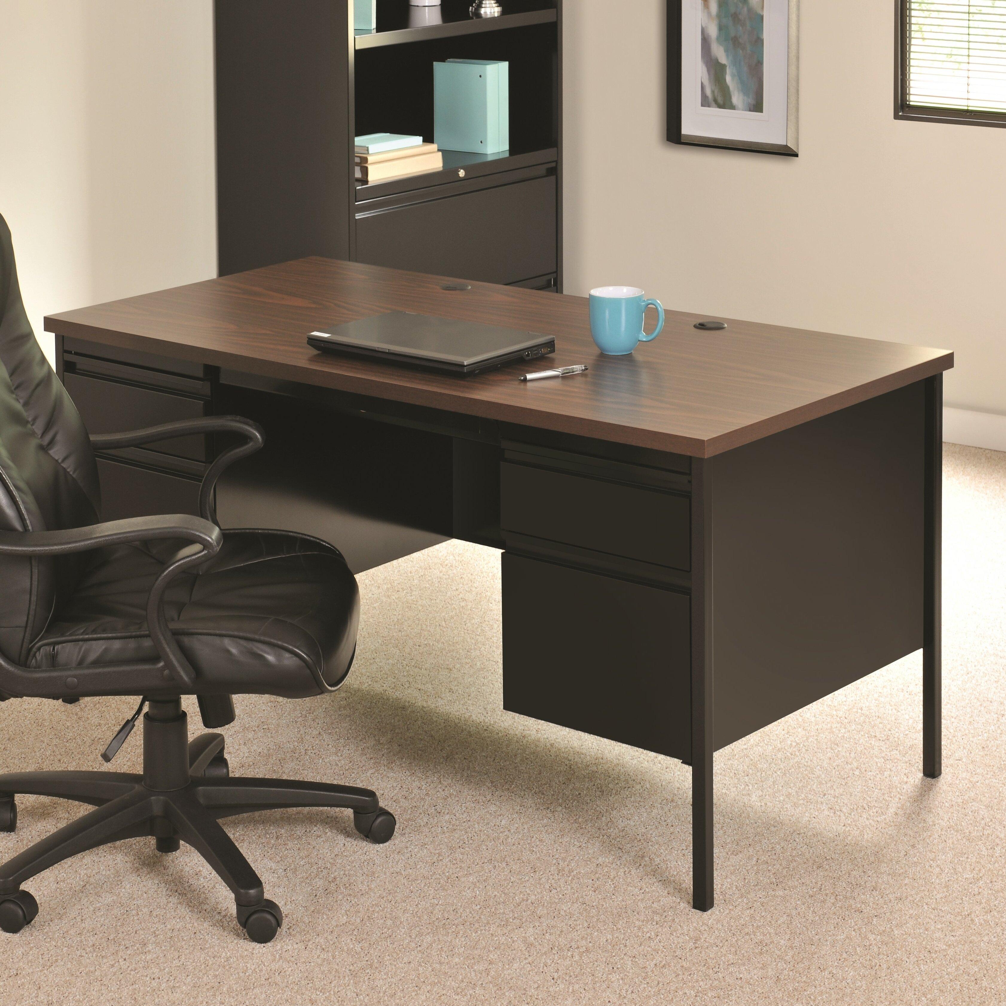 Commclad Hl10000 Series Doulble Pedestal Computer Desk Reviews Wayfair