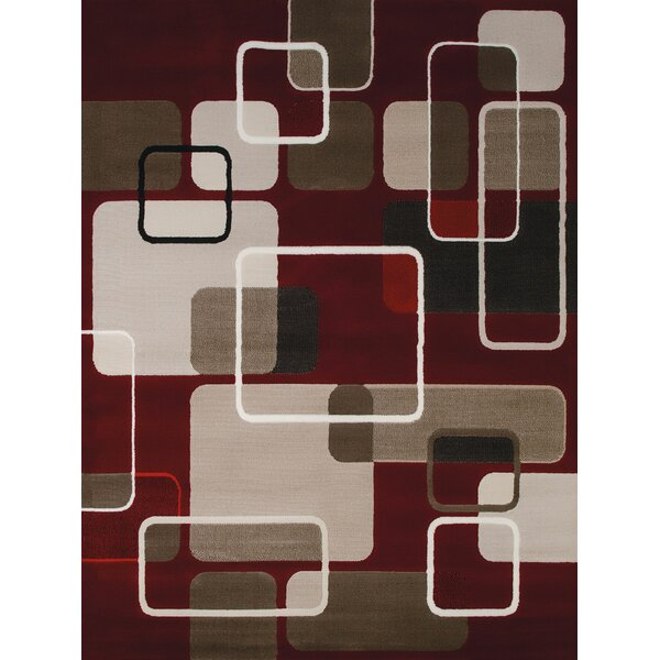 China Garden Jazz Red/Beige/Brown Area Rug by United Weavers of America