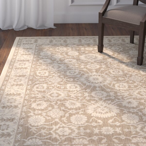 Beasley Flowers Brown/Creme Rug by Astoria Grand