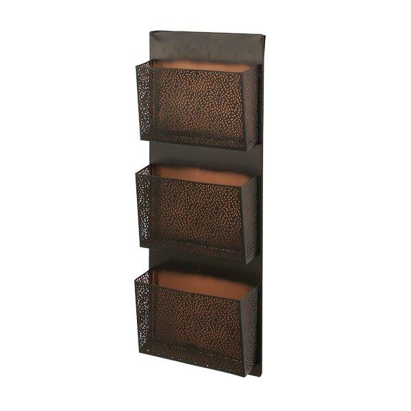 Atalanta Perforated-Designed Wall Mounted 3-Pocket Magazine Rack by Ivy Bronx