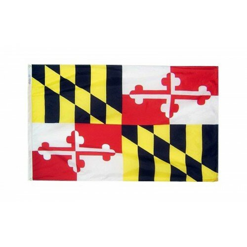 Maryland Glo Traditional Flag by NeoPlex