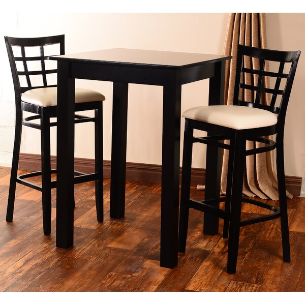 Laszakovits 3 Piece Pub Table Set by August Grove