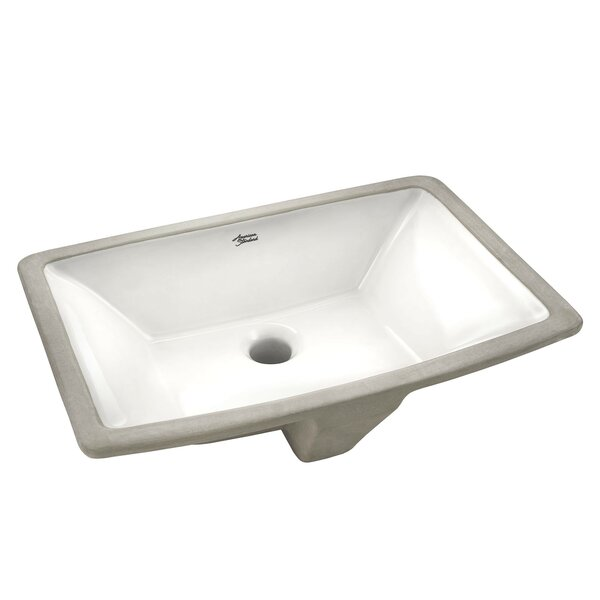 Townsend Vitreous China Rectangular Undermount Bathroom Sink with Overflow by American Standard
