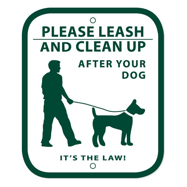 No Leash and Curb Dog Sign by Zero Waste USA