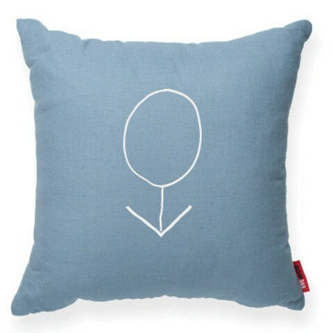 Expressive Male Symbol Decorative Throw Pillow by Posh365