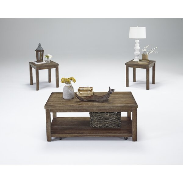 Nashua 3 Piece Coffee Table Set by Rosecliff Heights