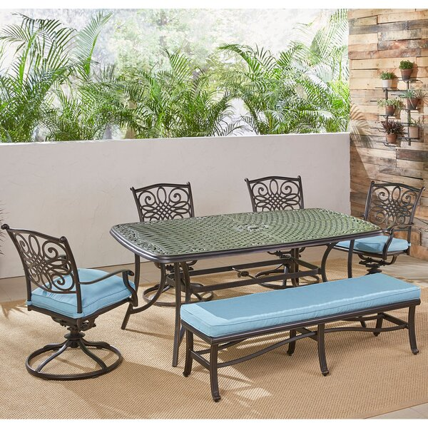 Robicheaux 6 Piece Dining Set with Cushions