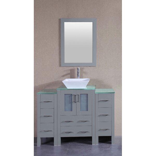 Harper 48 Single Bathroom Vanity Set with Mirror by Bosconi
