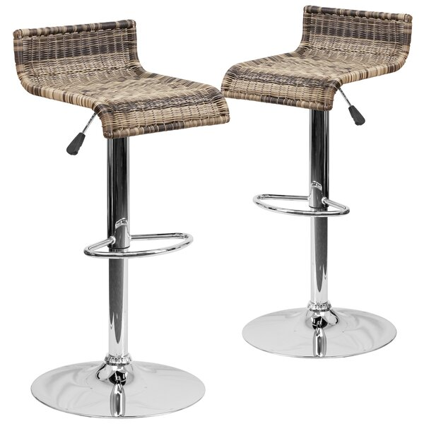 Iyana Adjustable Height Swivel Bar Stool (Set of 2) by Gracie Oaks