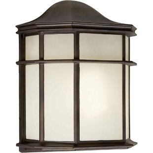 Affordable Hiett 1-Light Outdoor Flush Mount By Bloomsbury Market