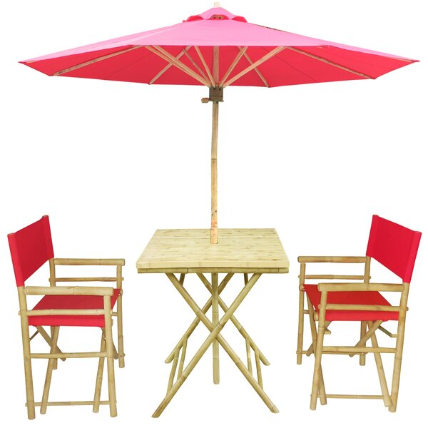 4 Piece Dining Set with Umbrella by ZEW Inc