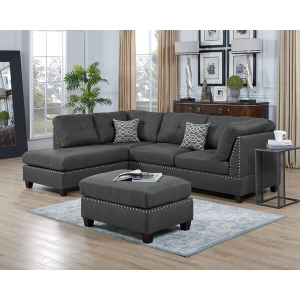 Sunnydale Reversible Sectional with Ottoman by Winston Porter