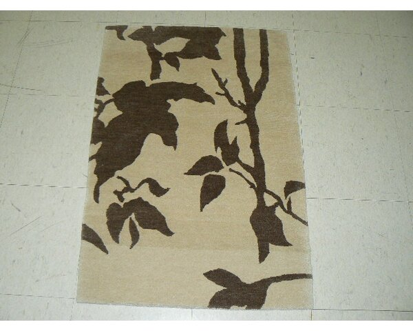 Mccleery Tibetan Hand-Knotted Brown/Beige Area Rug by Winston Porter