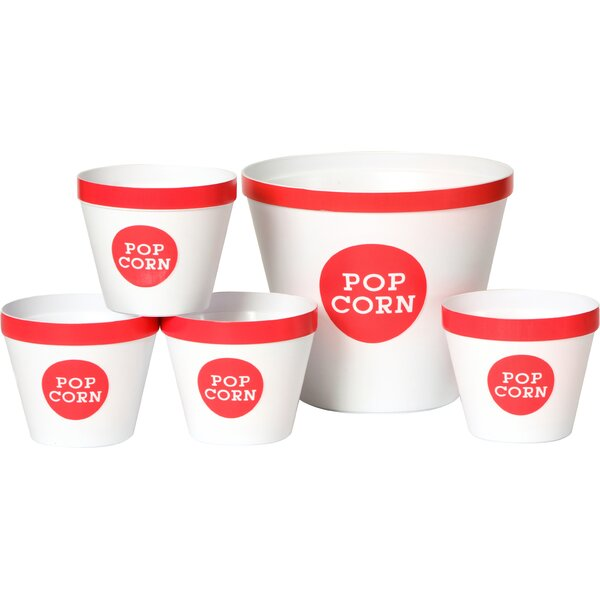 Trimmed 5 Piece Popcorn Bucket Set by Wabash Valley Farms