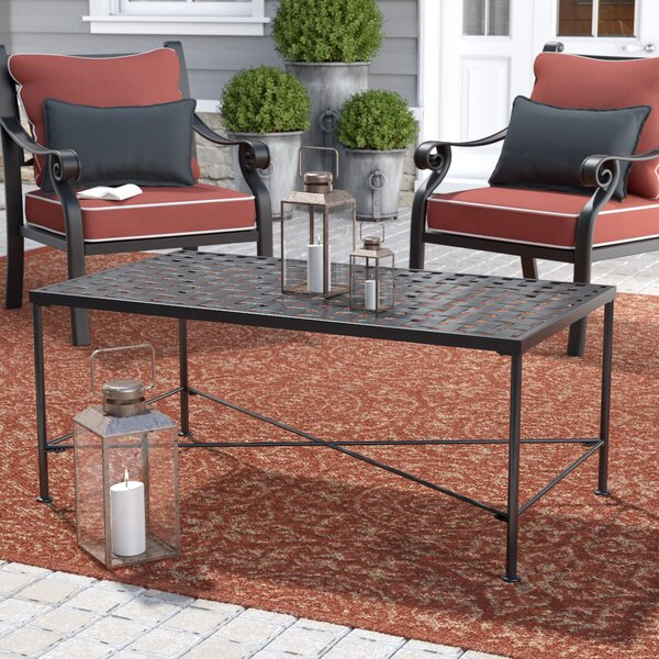 Hanselman Iron Coffee Table by Alcott Hill