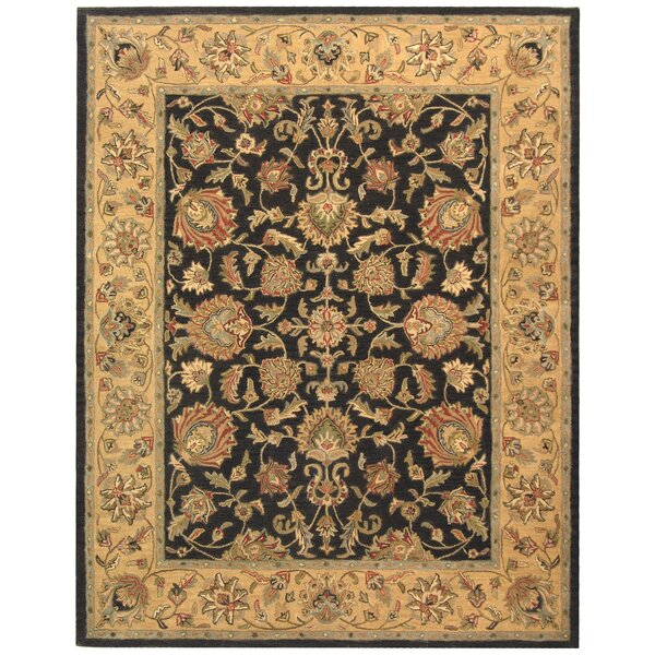 Cranmore Charcoal/Gold Area Rug by Charlton Home