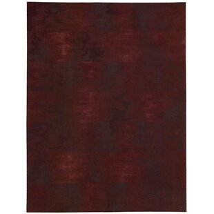 Price comparison Reflective Hand-Woven Brushstroke Garnet Area Rug By Calvin Klein