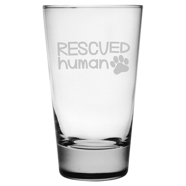 Rescued Human Hiball Glass (Set of 4) by Susquehanna Glass