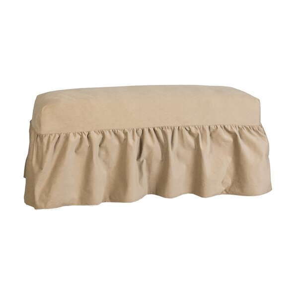 Patio Furniture Long Gathered Bench Slipcover