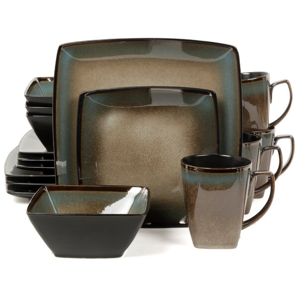 Tequesta 16 Piece Dinnerware Set, Service for 4 by Gibson