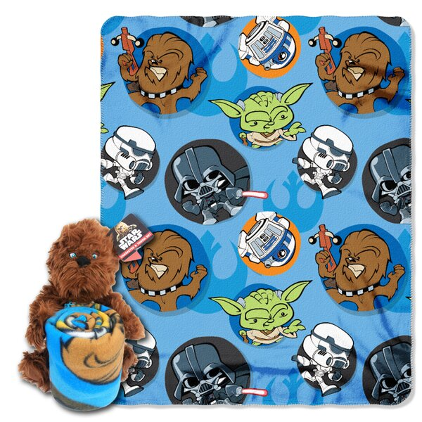 Star Wars Classic Chewie 2 Piece Fleece Throw and Hugger Pillow Set by Northwest Co.