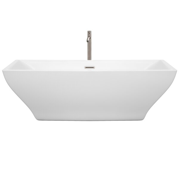 Maryam 70.8 x 31.3 Freestanding Soaking Bathtub by Wyndham Collection