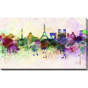 'Paris' Painting Print on Wrapped Canvas by Picture Perfect International