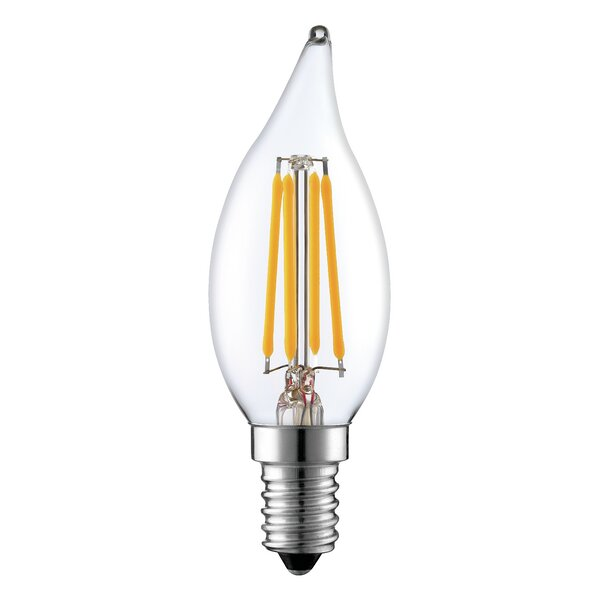 40W Equivalent E12 LED Candle Edison Light Bulb by String Light Company