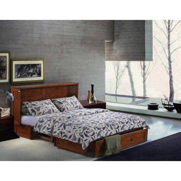 Planas Queen Storage Murphy Bed with Mattress by Loon Peak Loon Peak