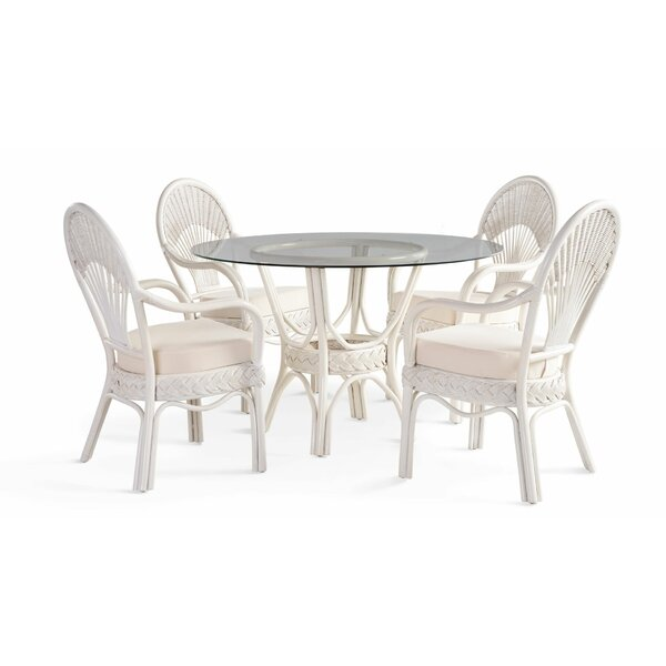 Lydia 5 Piece Dining Set by Rosecliff Heights