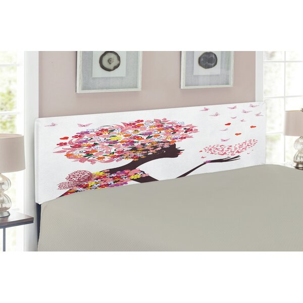Butterflies Upholstered Panel Headboard by East Urban Home